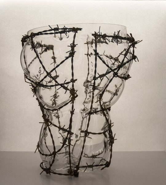 glass and barb wire SPLIT by Bas Froon