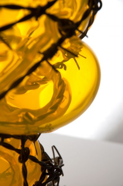 glass and barb wire YELLOW by Bas Froon (detail)
