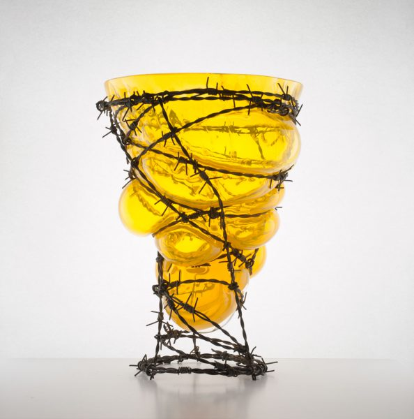 glass and barb wire YELLOW by Bas Froon